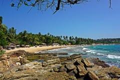 Пляж рая в Шри-Ланке стоковые изображения