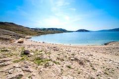 Пляж рая красивый в Адриатическом море Стоковая Фотография
