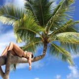 Пляж рая Мальдивов Стоковые Фотографии RF