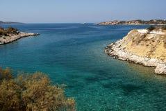 Пляж рая около Афин Стоковые Изображения