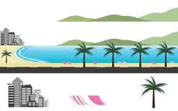 Пляж рая по всему миру стоковые изображения