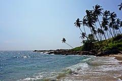 Пляж рая Шри-Ланки стоковое изображение