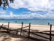 Пляж рая Pemba, северный Мозамбик Стоковая Фотография