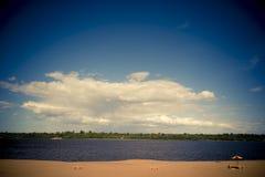 Пляж реки Стоковое Фото