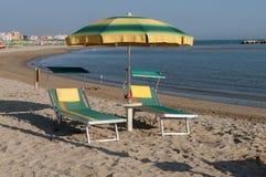 Пляж Римини, Италия Стоковые Изображения RF