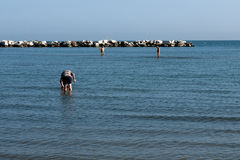 Пляж Римини, Италия Стоковые Фотографии RF