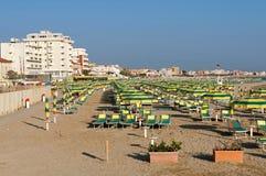 Пляж Римини, Италия Стоковое Изображение
