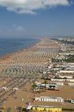 Пляж Римини Италия Стоковые Изображения RF