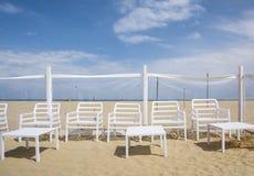 Пляж Римини Стоковая Фотография