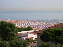 Пляж Римини Стоковая Фотография RF