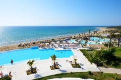 Пляж роскошной гостиницы Стоковые Изображения