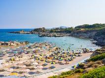 Пляж Родос Tassos стоковые фото