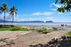 Пляж самары, полуостров Nicoya, Коста-Рика Стоковые Изображения