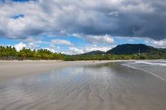 Пляж самары, полуостров Nicoya, Коста-Рика Стоковая Фотография