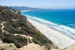 Пляж Сан-Диего вдоль береговой линии - gliderport сосен Torrey Стоковое фото RF