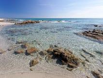 Пляж Сардиния Италия Bidda Розы Стоковое Изображение RF