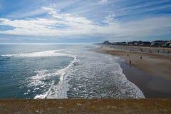 Пляж Северной Каролины Стоковые Фотографии RF