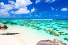 пляж Сейшельские островы Стоковые Изображения RF