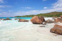 Пляж Сейшельских островов Стоковые Фотографии RF