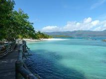 Пляж Сейшельских островов Стоковые Изображения RF