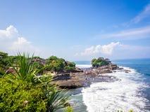 Пляж серии Tanah, Бали, Индонезия Стоковые Фотографии RF