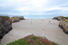 Пляж соборов Стоковая Фотография
