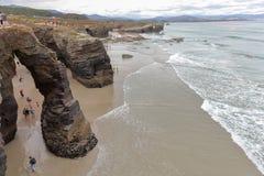 Пляж соборов Стоковые Изображения