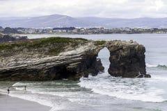 Пляж соборов Стоковое Изображение