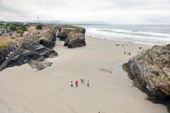 Пляж соборов Стоковые Изображения RF