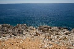 пляж среднеземноморской стоковые фотографии rf