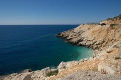 пляж среднеземноморской стоковое изображение
