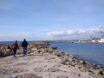 Пляж стороны Антальи Стоковое фото RF