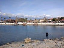 Пляж стороны Антальи Стоковое Изображение