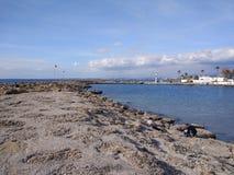 Пляж стороны Антальи Стоковые Фотографии RF