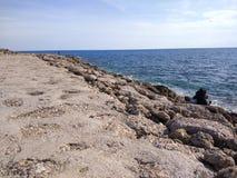 Пляж стороны Антальи Стоковые Изображения RF