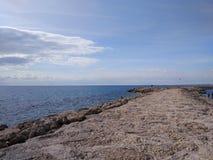 Пляж стороны Антальи Стоковые Изображения