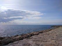 Пляж стороны Антальи Стоковое Фото