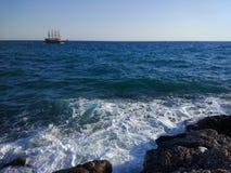 Пляж стороны Турции Антальи Manavgat Стоковая Фотография