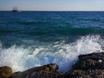 Пляж стороны Турции Антальи Manavgat Стоковое Изображение