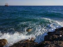 Пляж стороны Турции Антальи Manavgat Стоковые Изображения