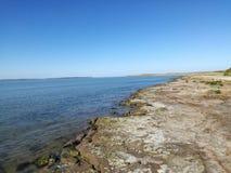 Пляж стренги Rosslare, Wexford, Ирландия стоковое фото rf