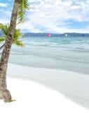 Пляж с белым песком Boracay Стоковое Изображение RF