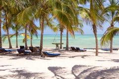Пляж с белым песком. Watamu, Кения Стоковые Фотографии RF