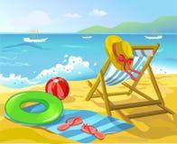 Пляж с деталями салона и воссоздания фаэтона Стоковые Изображения RF