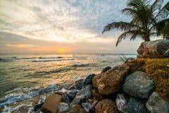 Пляж сделанный камня Стоковые Изображения