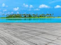 Пляж с Мальдивами стоковые фото