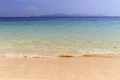 Пляж с песком Стоковая Фотография
