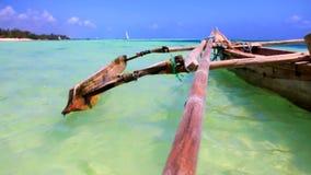 Пляж Танзании сток-видео