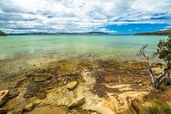 Пляж Тасмания залива известки Стоковое фото RF