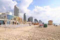 Пляж Тель-Авив Стоковые Изображения